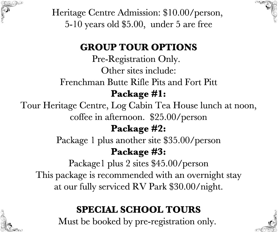 Frenchman Butte Heritage Cenre Group Tours
