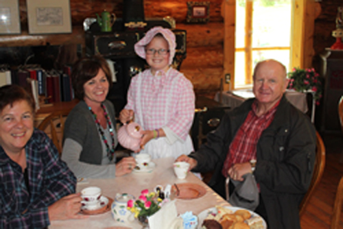 Enjoy a cup of Tea at our Log Cabin Tea House